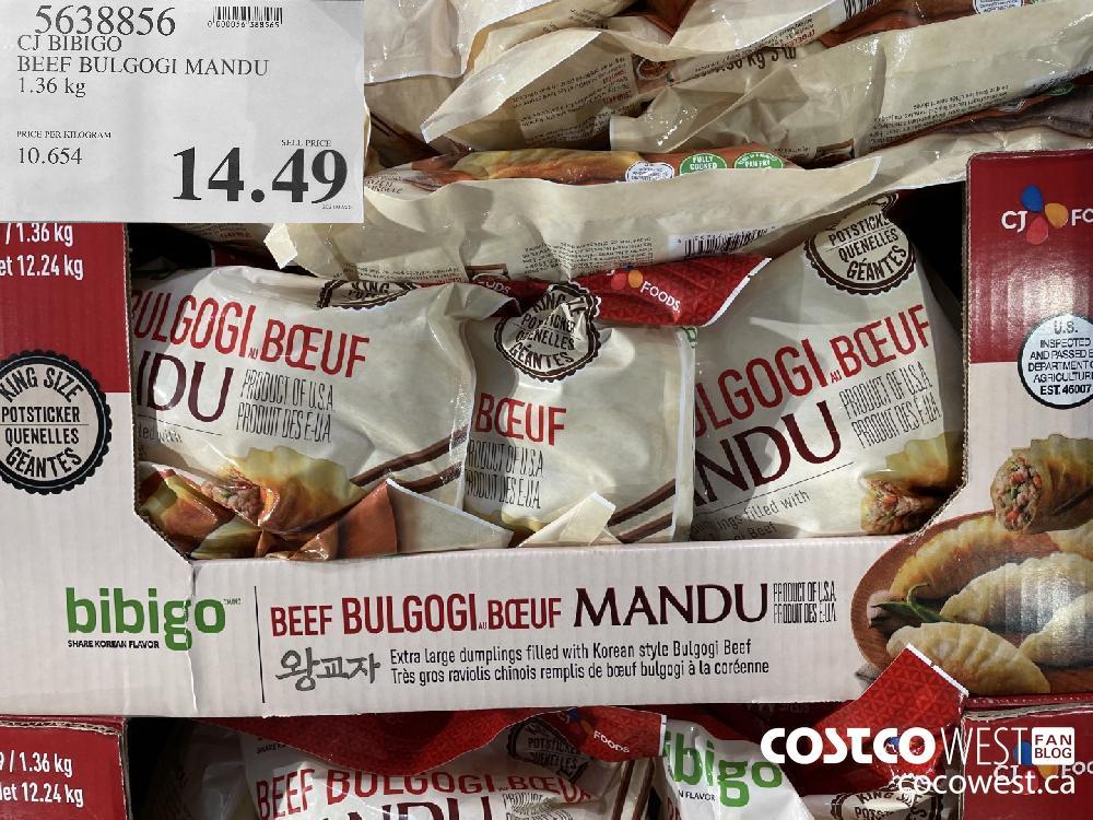 5638856 CT BIBIGO BEEF BULGOGI MANDU 1.36 kg $14.49