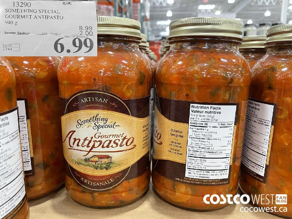 13290 SOMETHING SPECIAL GOURMET ANTIPASTO 940 g EXPIRY DATE: 2021-03-14 $6.99