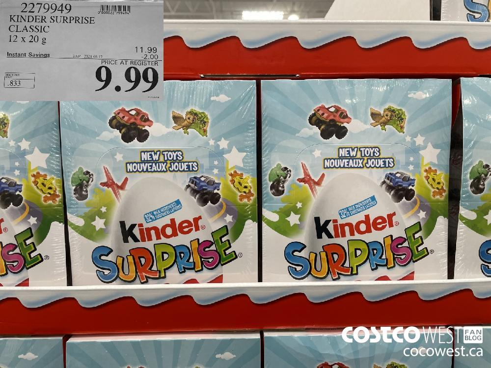 2279949 KINDER SURPRISE CLASSIC 12 x 20g EXPIRY DATE: 2021-03-17 $9.99