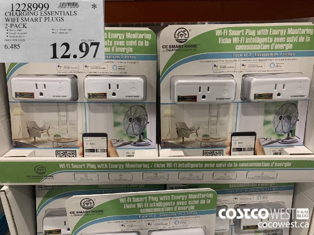1228999 CHARGING ESSENTIALS WIFI SMART PLUGS 2-PACK $12.97