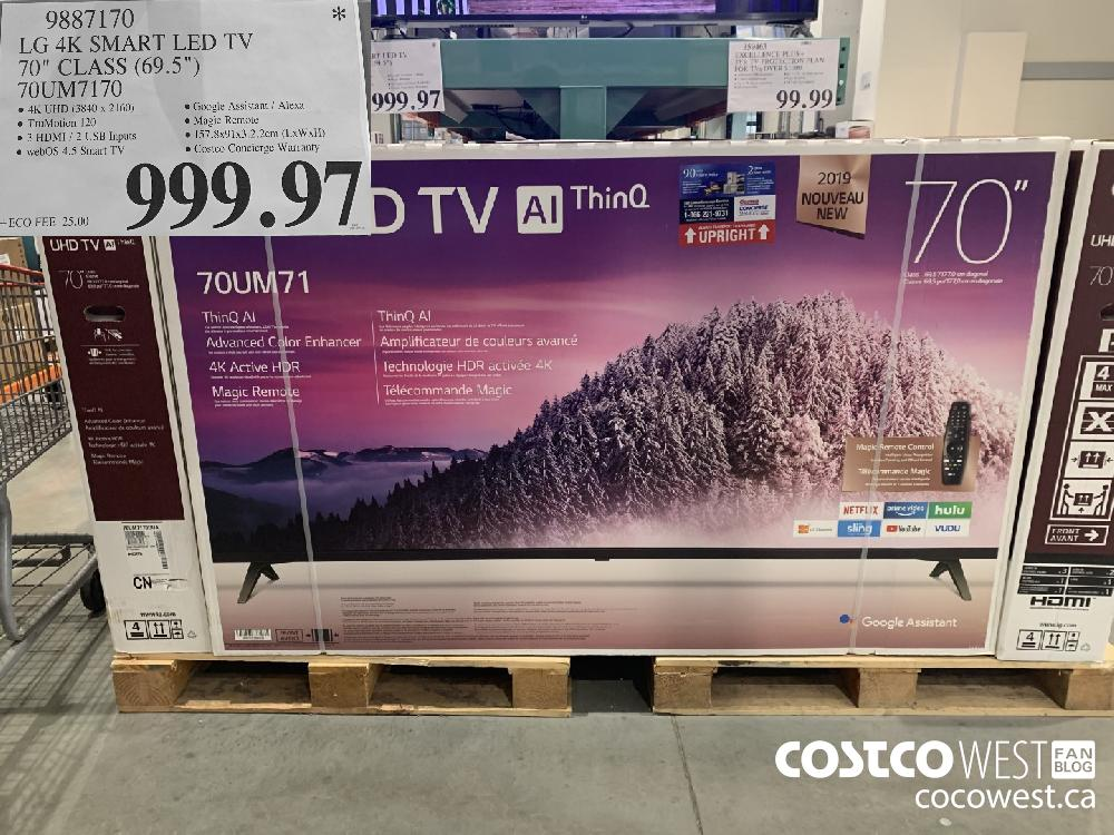 "9887170 LG 4K SMART LED TV 70"" CLASS (69.5"") 70UM7170 $999.97"