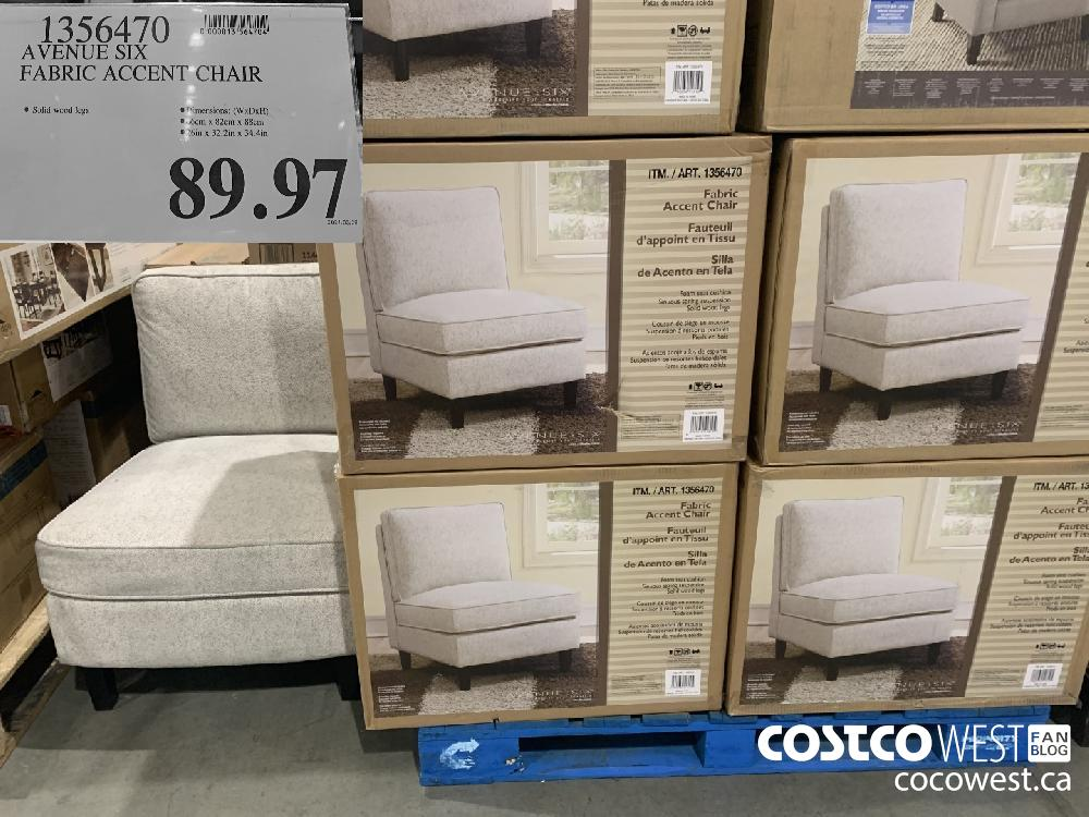 1356470 AVENUE SIX FABRIC ACCENT CHAIR $89.97