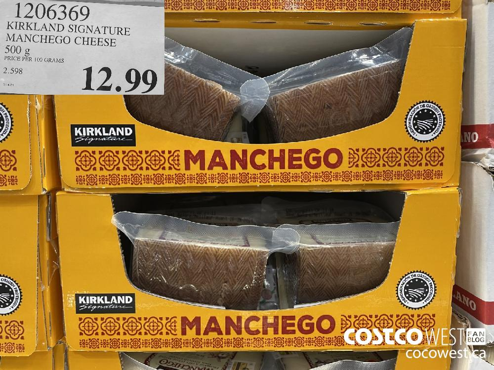 1206369 KIRKLAND SIGN ATURE MANCHEGO CHEESE 500 g $12.99