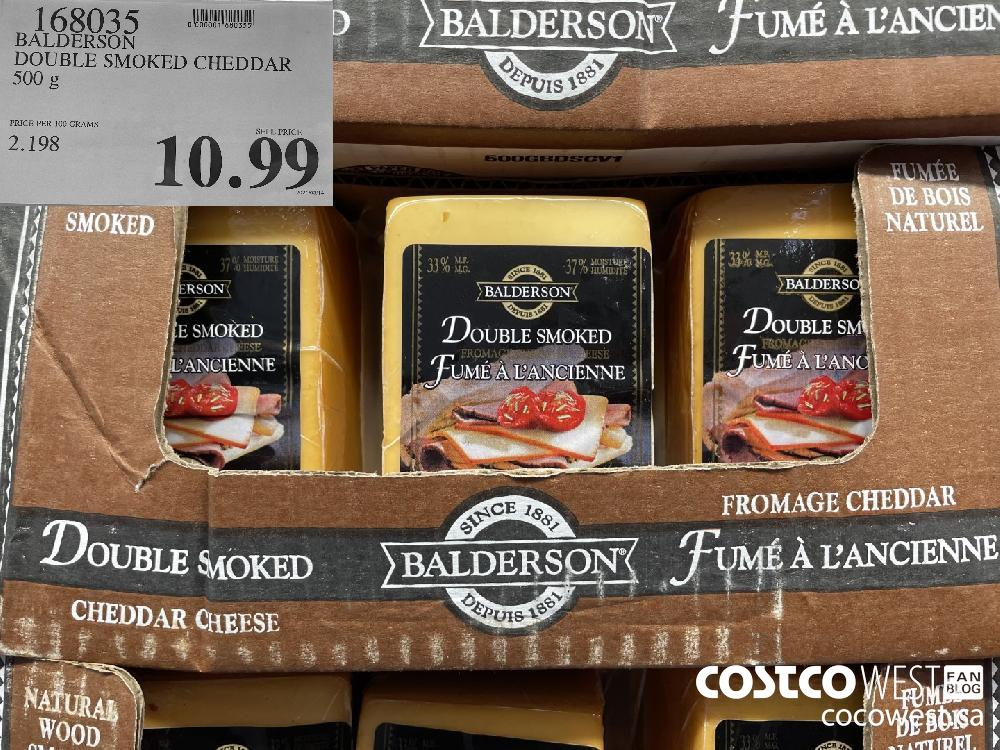168035 BALDERSON DOUBLE SMOKED CHEDDAR 500 g $10.99
