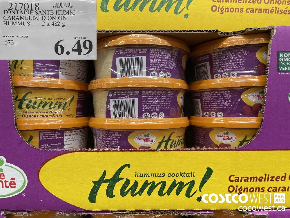 217018 FONTAINE SANTE HUMM! CARAMELIZED ONION HUMMUS 2 x 482 g $6.49