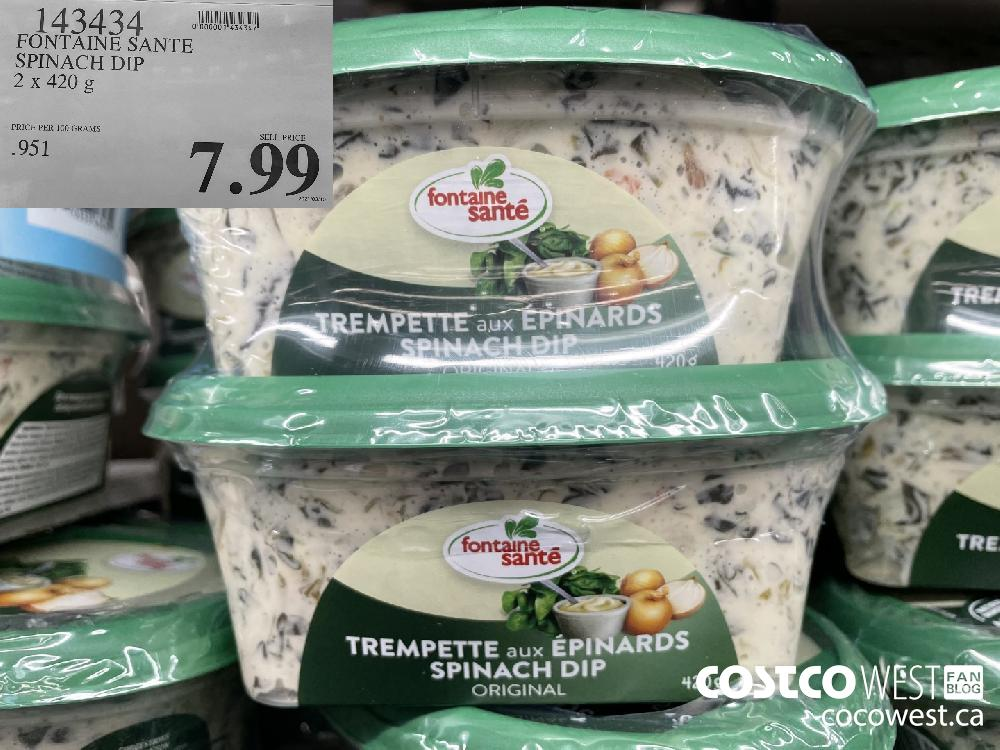 143434 FONTAINE SANTE SPINACH DIP 2 x 420 g $7.99