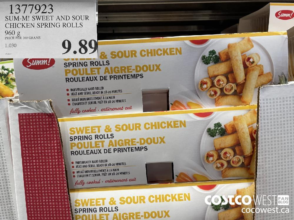 1377923 SUM-M! SWEET AND SOUR CHICKEN SPRING ROLLS 960 g $9.89