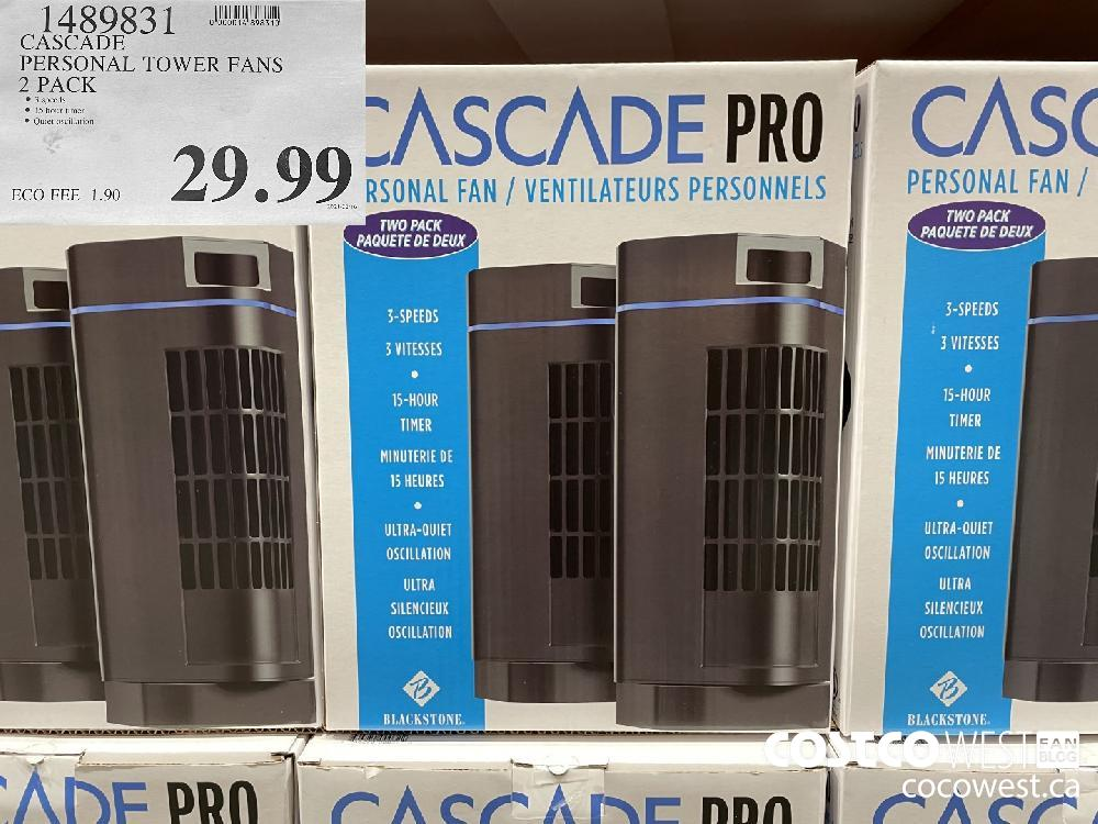 1489831 CASCADE PERSONAL TOWER FANS 2 PACK $29.99