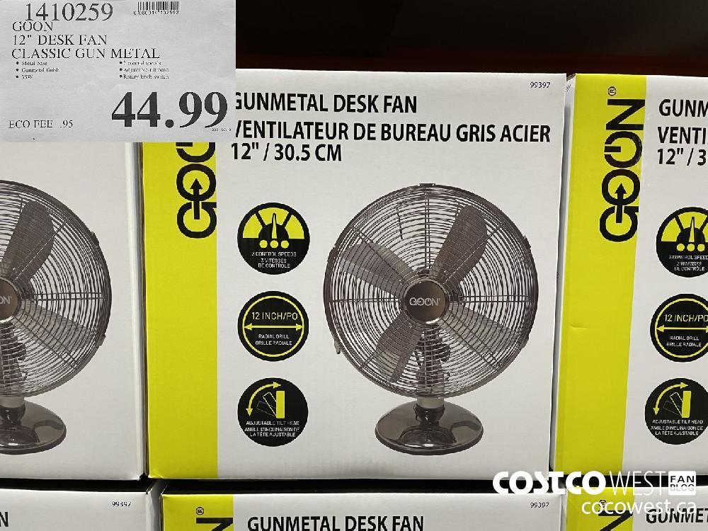 """1410259 GOON 12"""" DESK FAN CLASSIC GUN METAL $44.99"""