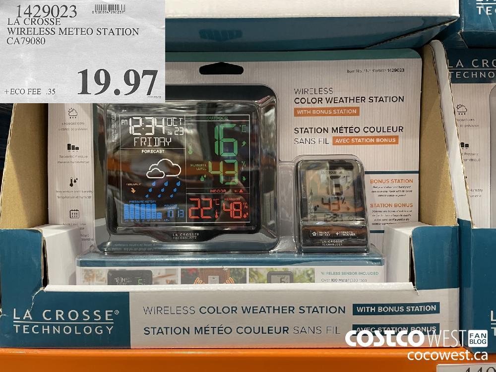 1429023 LA CROSSE WIRELESS METEO STATION CA79080 $19.97