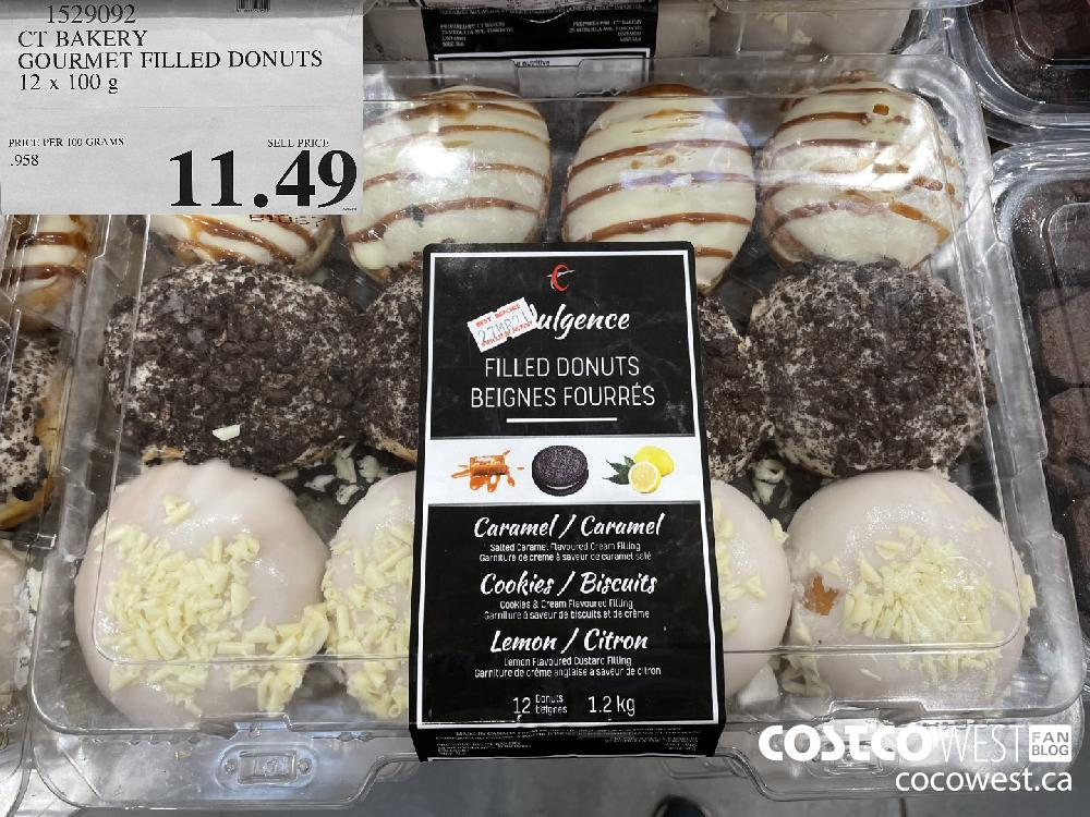 1529092 CT BAKERY GOURMET FILLED DONUTS 12 x 100 g $11.49
