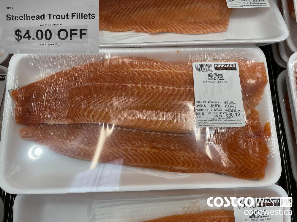 10931 Stillhead Trout Fillets Less In-Store Rebate $4.00 OFF Per Package at Register