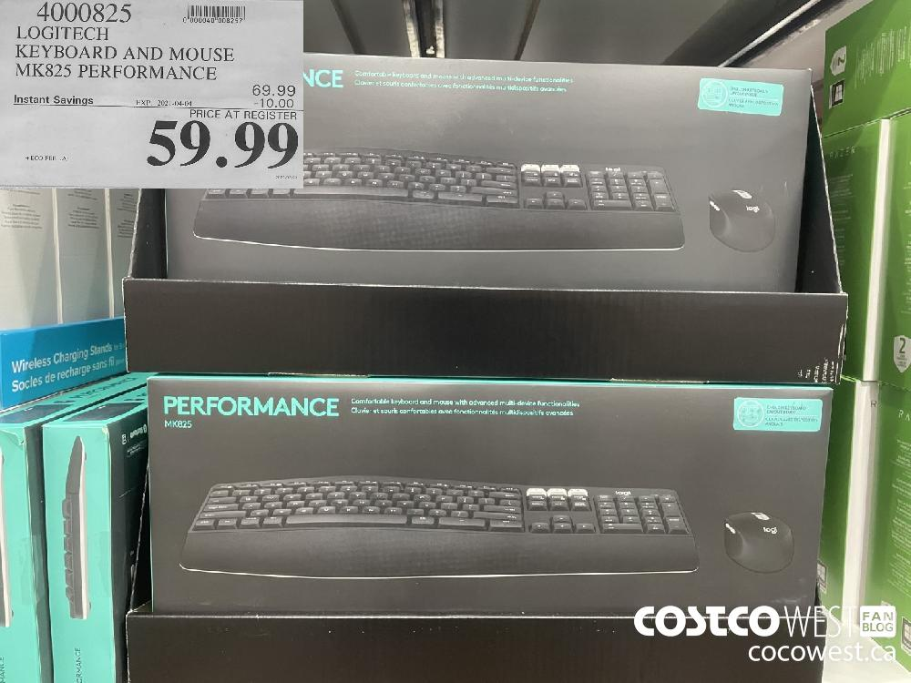 4000825 LOGITECH KEYBOARD AND MOUSE MK825 PERFORMANCE EXPIRY DATE: 2021-04-04 $59.99