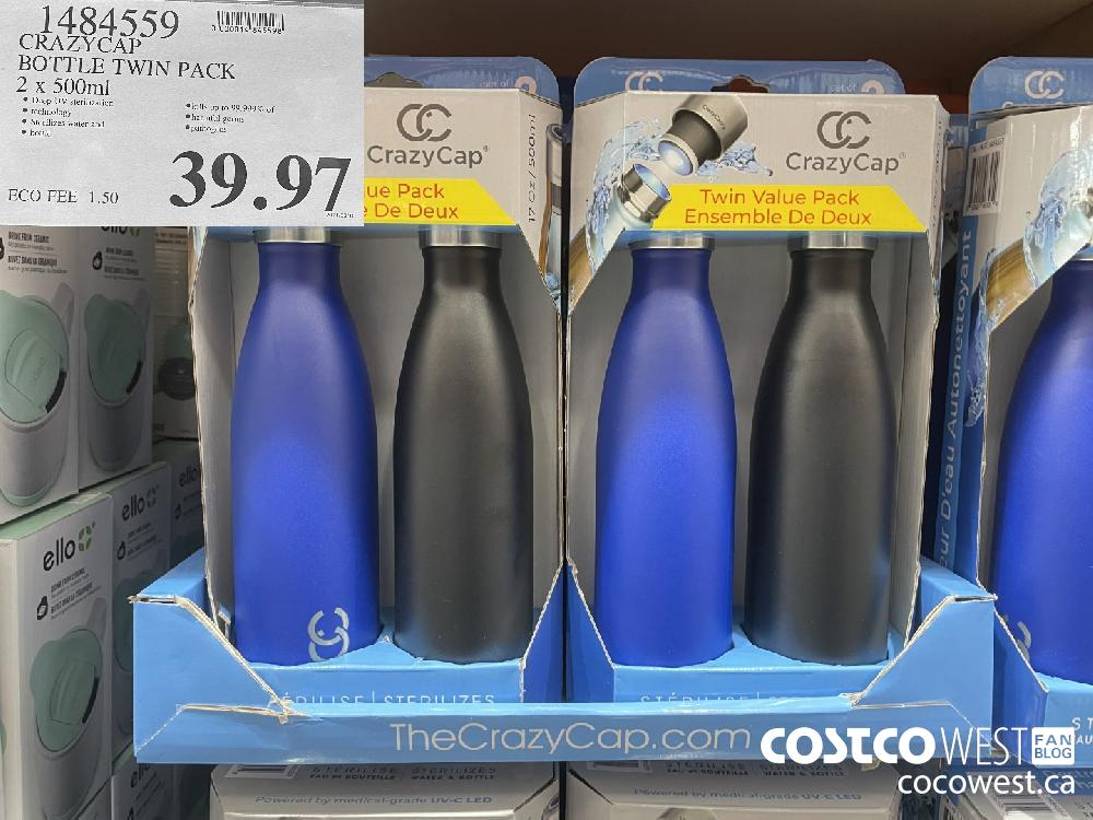 1484559 CRAZYCAP BOTTLE TWIN PACK 2 x 500 mL $39.97