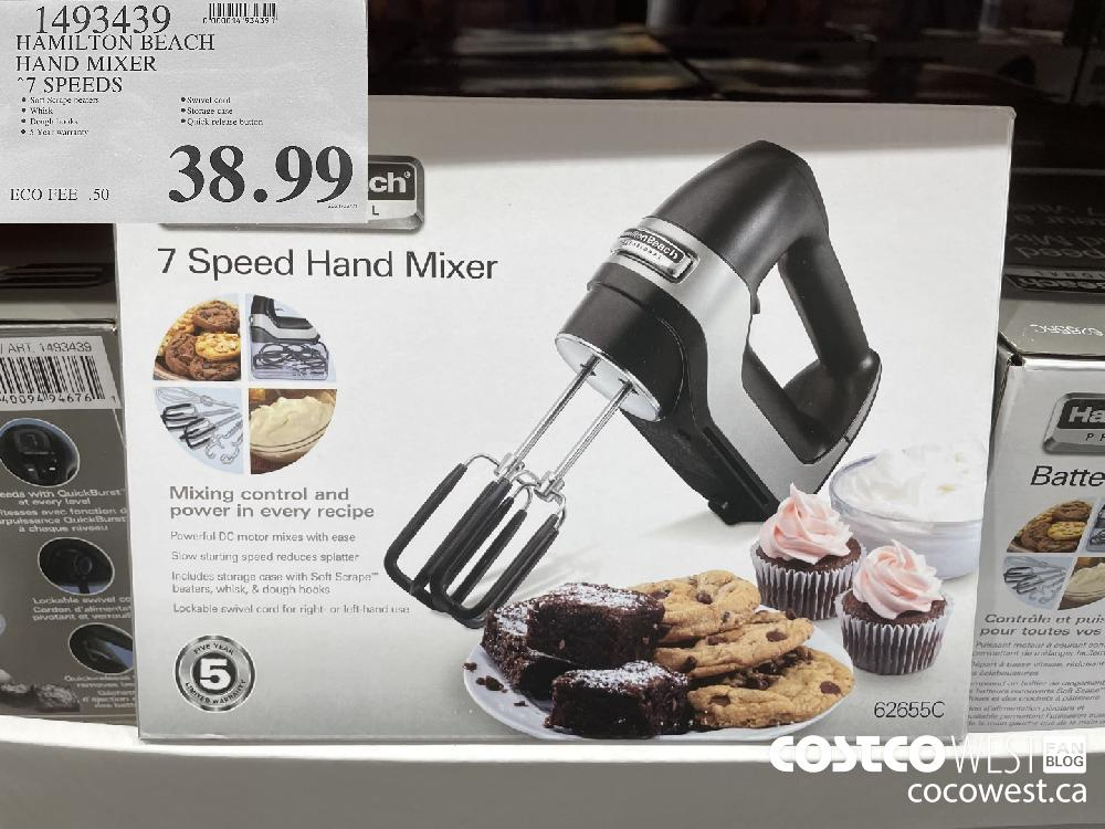 1493439 HAMILTON BEACH HAND MIXER 7 SPEEDS $38.99