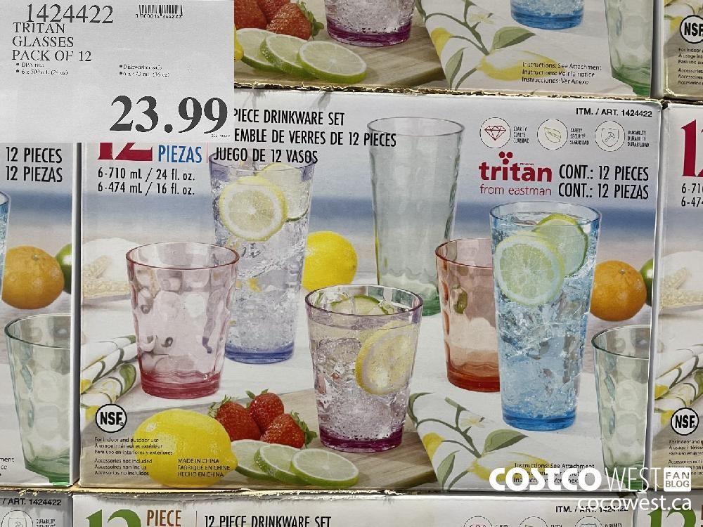 1424499 TRITAN GLASSES PACK OF 12 $23.99