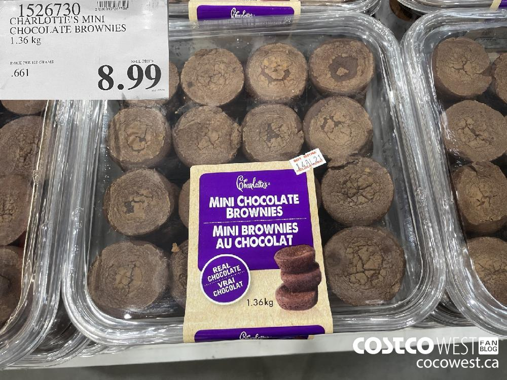 1526730 CHARLOTTE'S MINI CHOCOLATE BROWNIES 1.36 kg $8.99