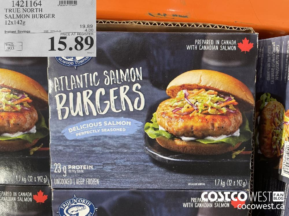 1421164 TRUE NORTH SALMON BURGER 12 x 142g EXPIRY DATE: 2021-03-28 $15.89