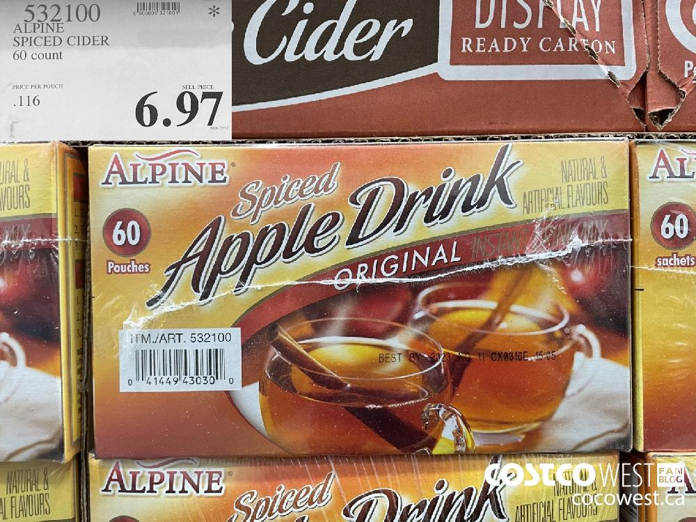 537100 ALPINE SPICED CIDER 60 count $6.97
