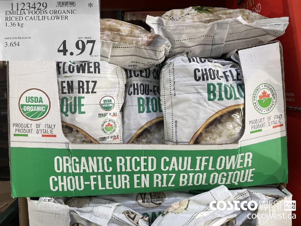 1123429 EMILIA FOODS ORGANIC RICED CAULIFLOWER 1.36 kg $4.97