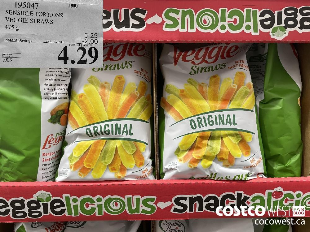 1950472 SENSIBLE PORTIONS VEGGIE STRAWS 475 g EXPIRY DATE: 2021-04-04 $4.29