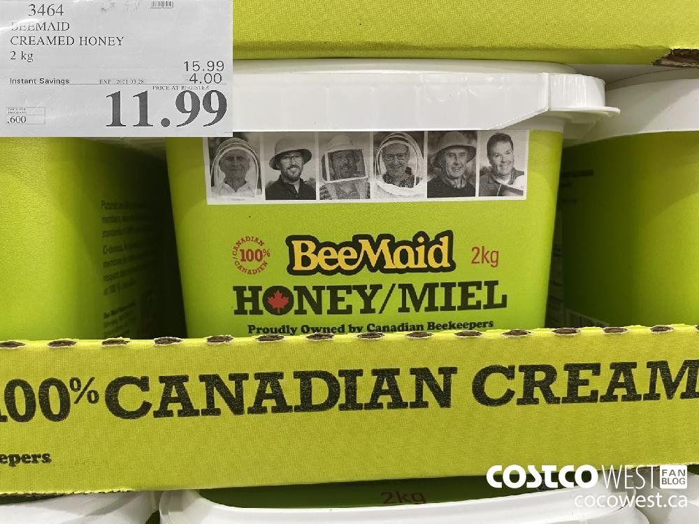 BEEMAID CREAMED HONEY 2 kg EXPIRY DATE: 2021-03-28 $11.99