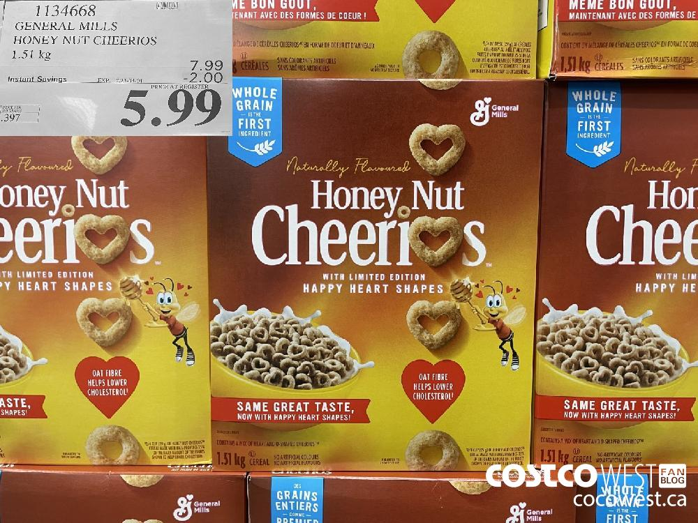 1134668 GENERAL MILLS HONEY NUT CHEERIOS 1.51 kg EXPIRY DATE: 2021-04-04 $5.99