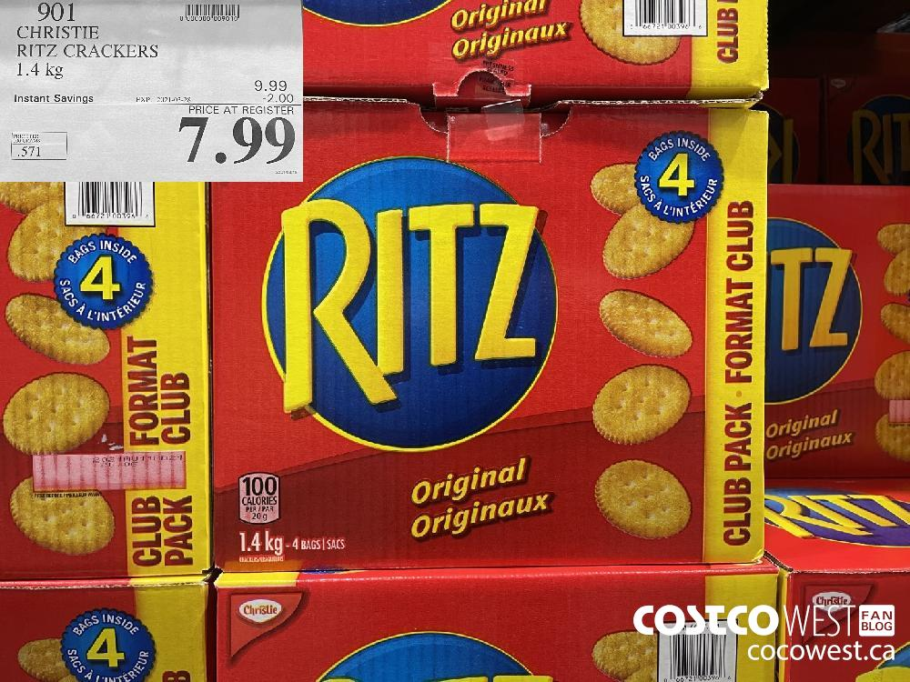 901 CHRISTIE RITZ CRACKERS 1.4 kg EXPIRY DATE: 2021-03-28 $7.99