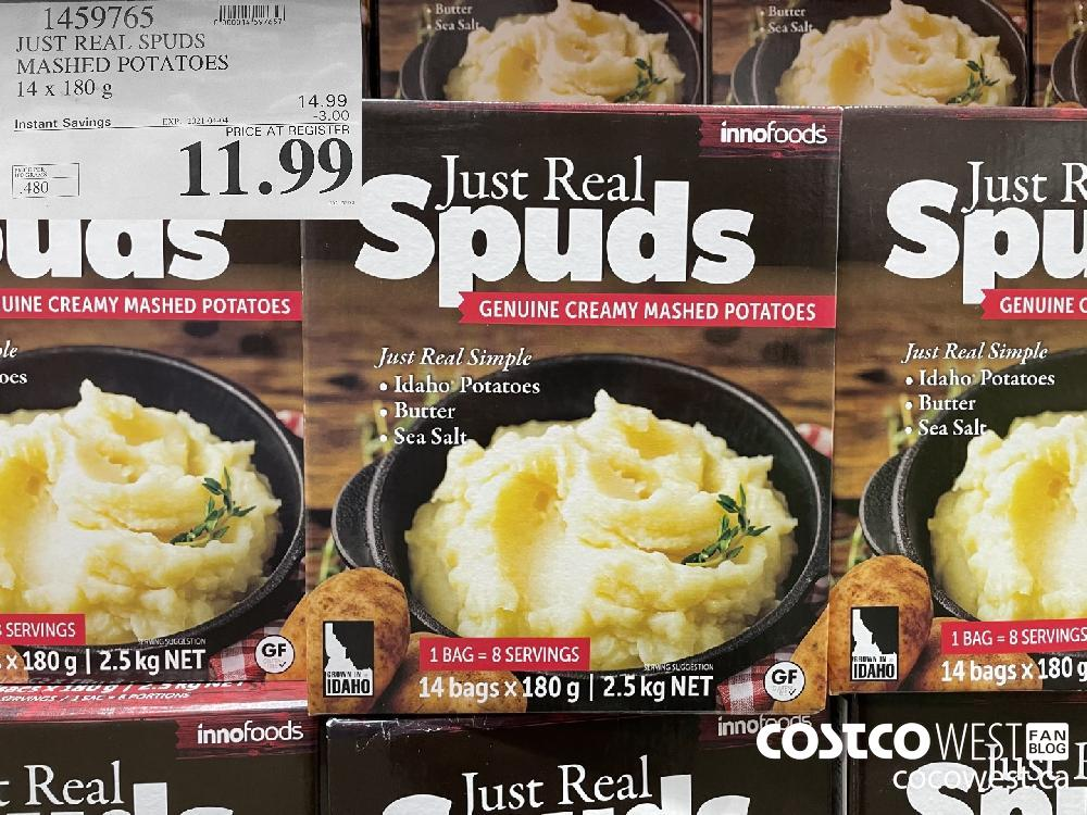 1459765 JUST REAL SPUDS MASHED POTATOES 14 x 180g EXPIRY DATE: 2021-04-04 $11.99
