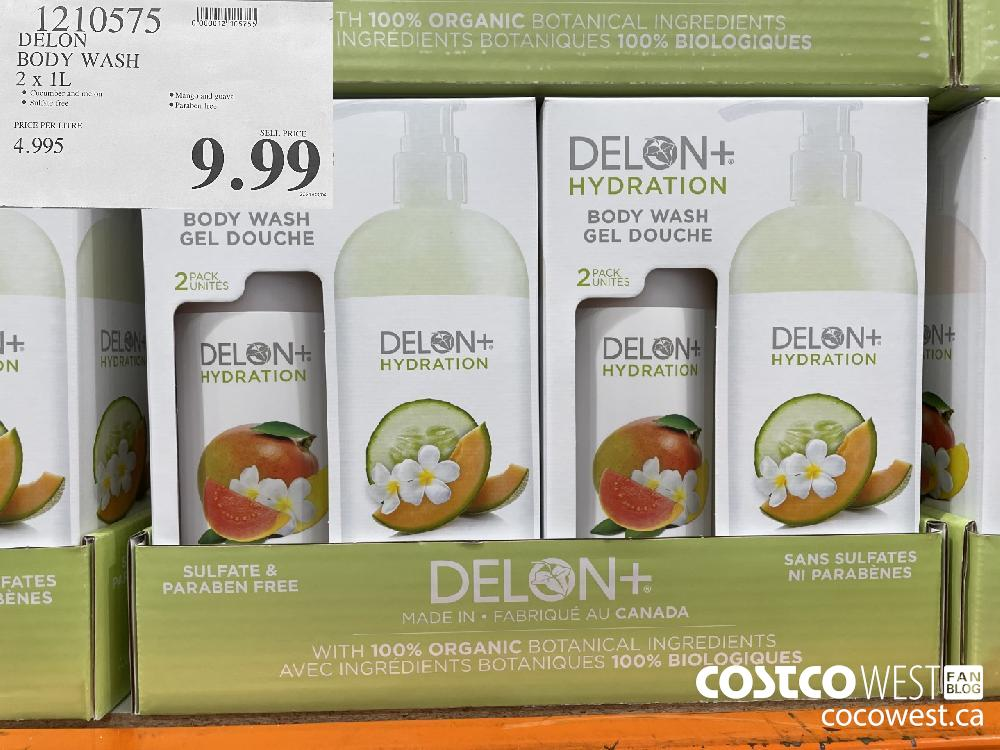 1210575 DELON BODY WASH 2 x 1L $9.99