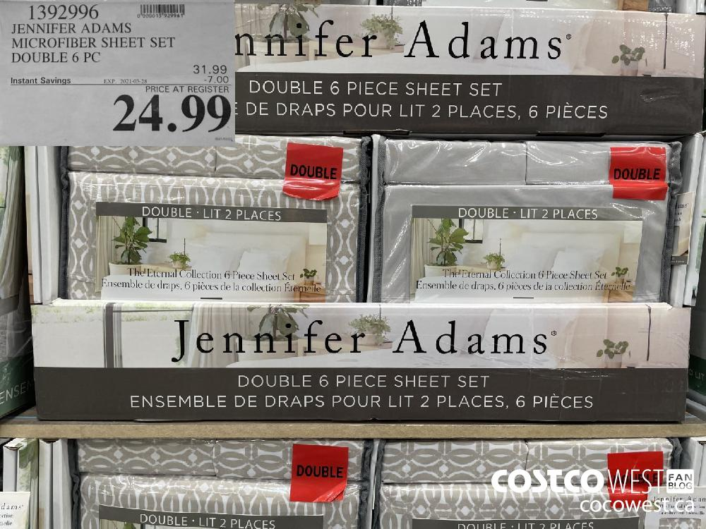 1392996 JENNIFER ADAMS MICROFIBER SHEET SET DOUBLE 6 PC EXPIRY DATE: 2021-03-28 $24.99