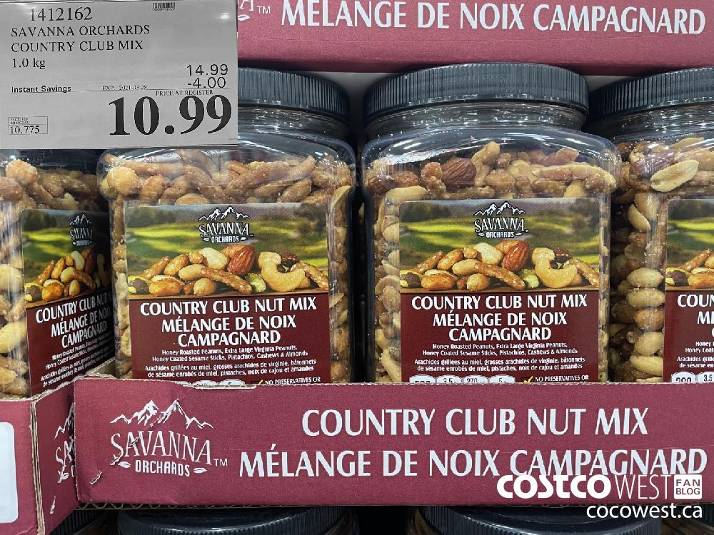 1412162 SAVANNA ORCHARDS COUNTRY CLUB MIX 1.0 kg EXPIRY DATE: 2021-03-28 $10.99