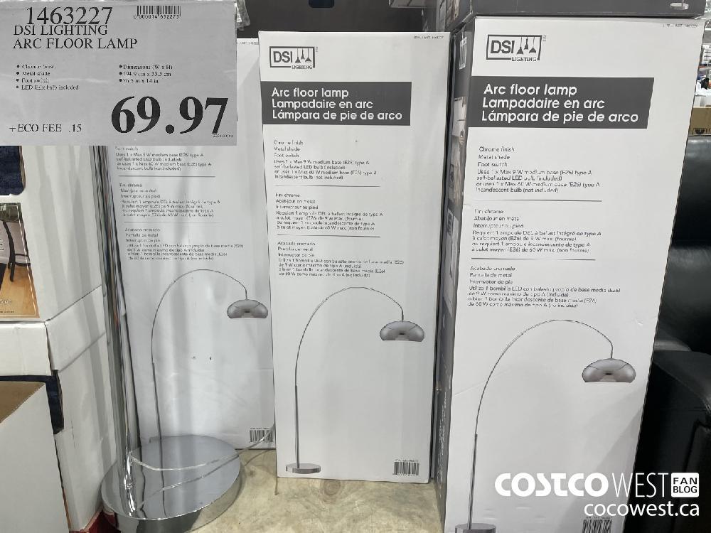 1463227 DSI LIGHTING ARC FLOOR LAMP $69.97