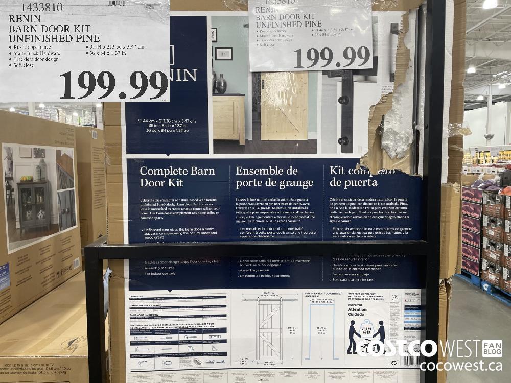 1433810 RENIN BARN DOOR KIT UNFINISHED PINE $199.99