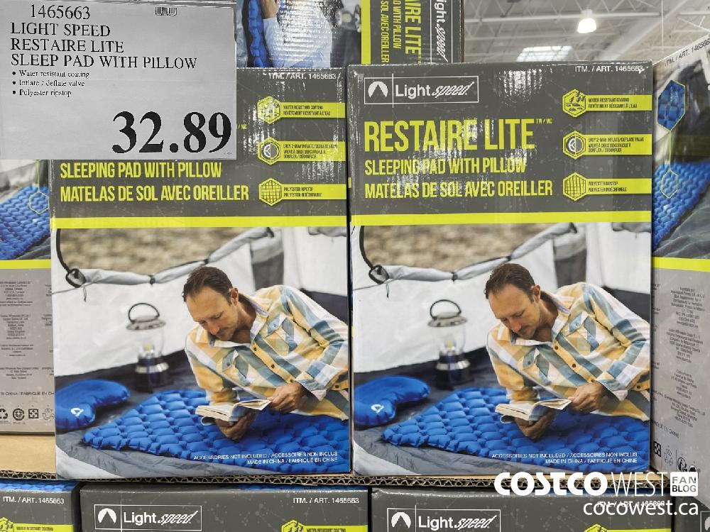 1465663 LIGHT SPEED RESTAIRE LITE SLEEP PAD WITH PILLOW $32.89
