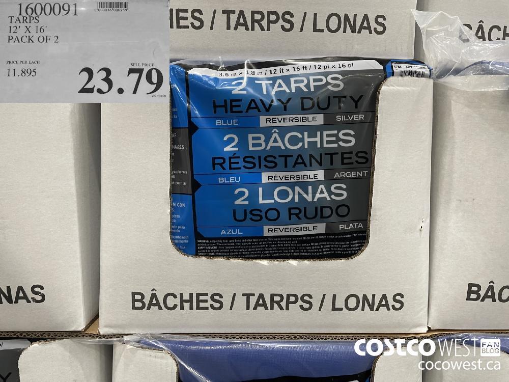 1600091 TARPS 12' x 16' PACK OF 2 $23.79
