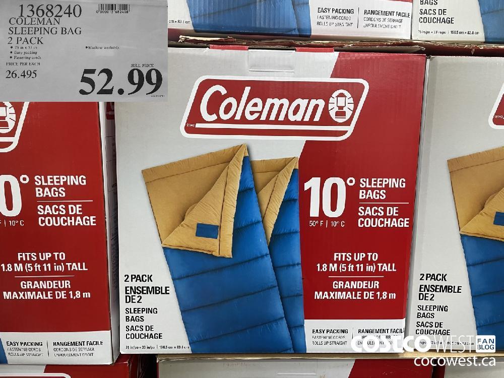 1368240 COLEMAN SLEEPING BAG 2 PACK $52.99