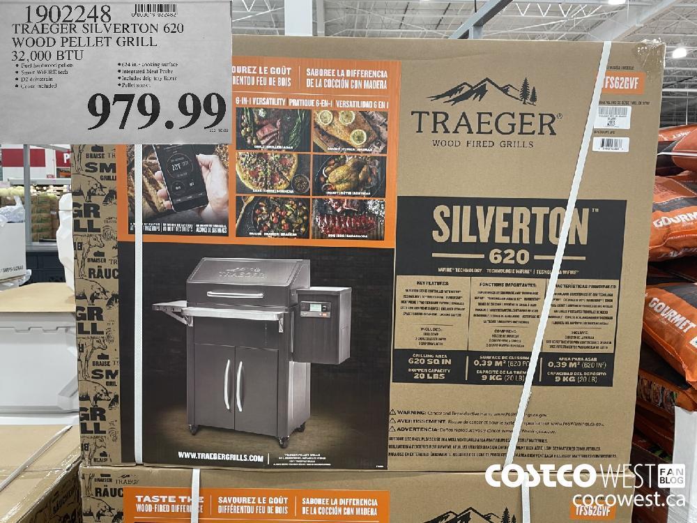 1902248 TRAEGER SILVERTON 620 WOOD PELLET GRILL 32 000 BTU $979.99