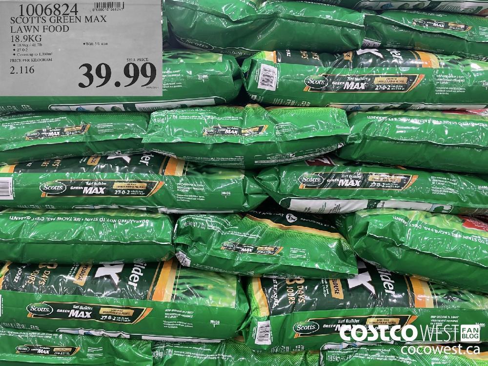 1006824 SCOTTS GREEN MAX LAWN FOOD 18.9KG $39.99