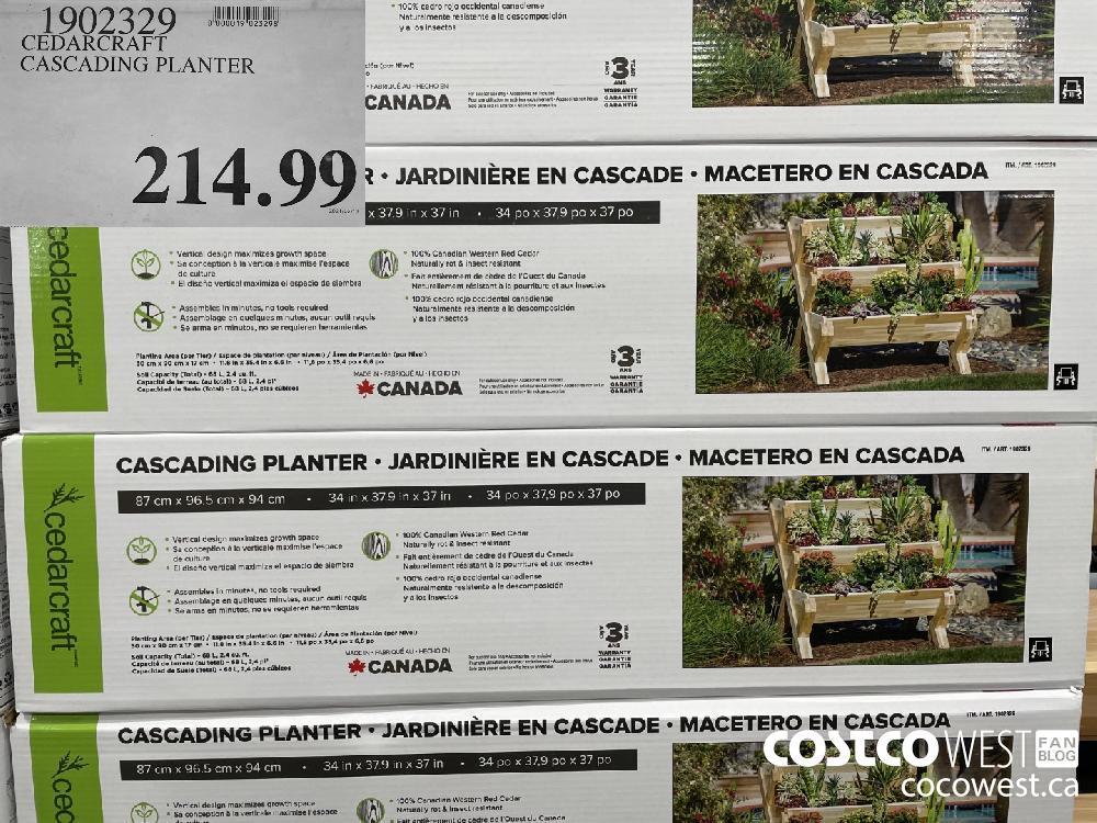 1902329 CEDARCRAFT CASCADING PLANTER $214.99