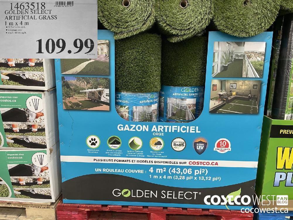 1463518 GOLDEN SELECT ARTIFICIAL GRASS 1m x 4m $109.99