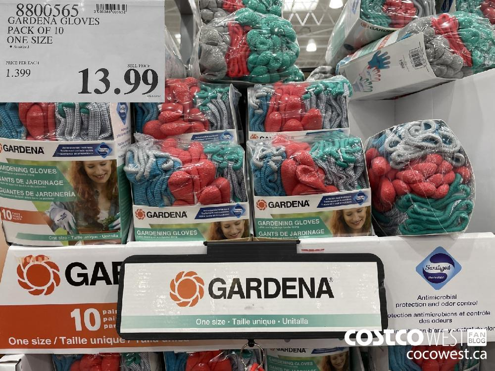 8800565 GARDENA GLOVES PACK OF 10 ONE SIZE $13.99