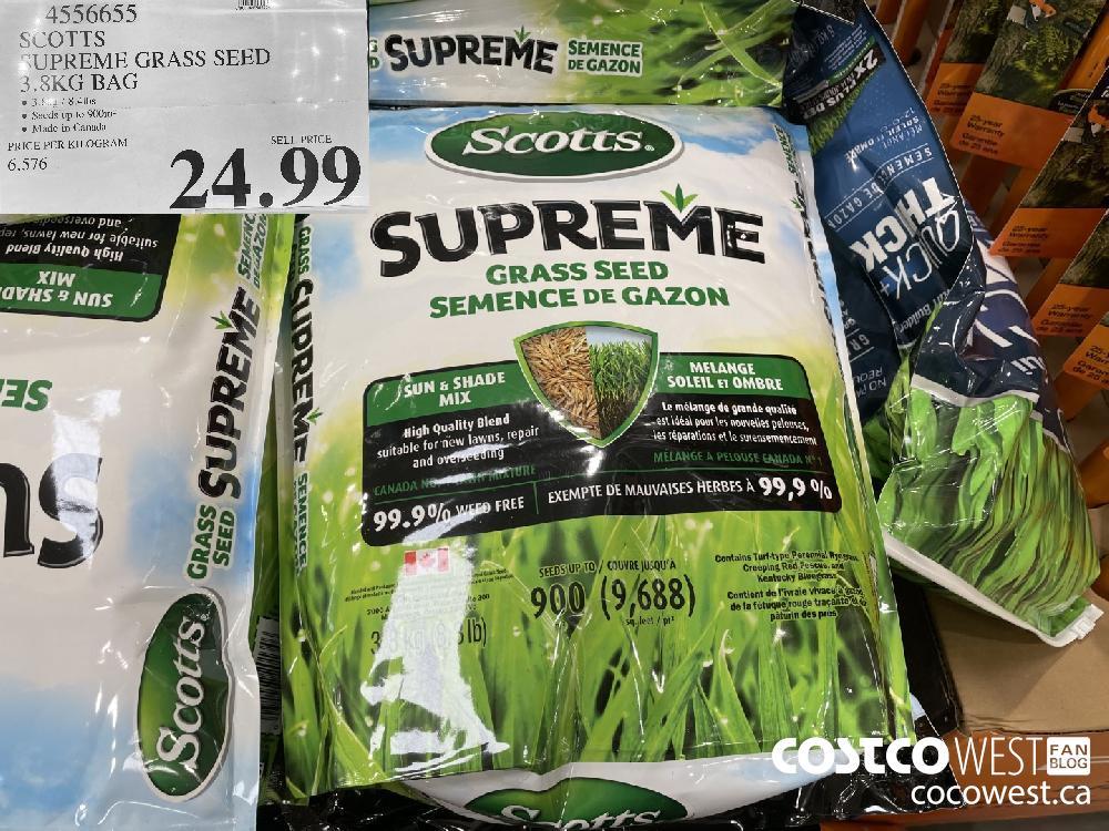 4556655 SCOTTS SUPREME GRASS SEED 3.8KG BAG $24.99