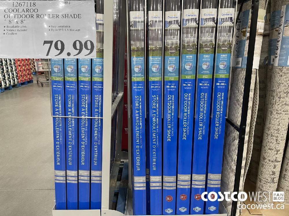 1267118 COOLAROO OU FDOOR ROLLER SHADE 8' x 8' $79.99