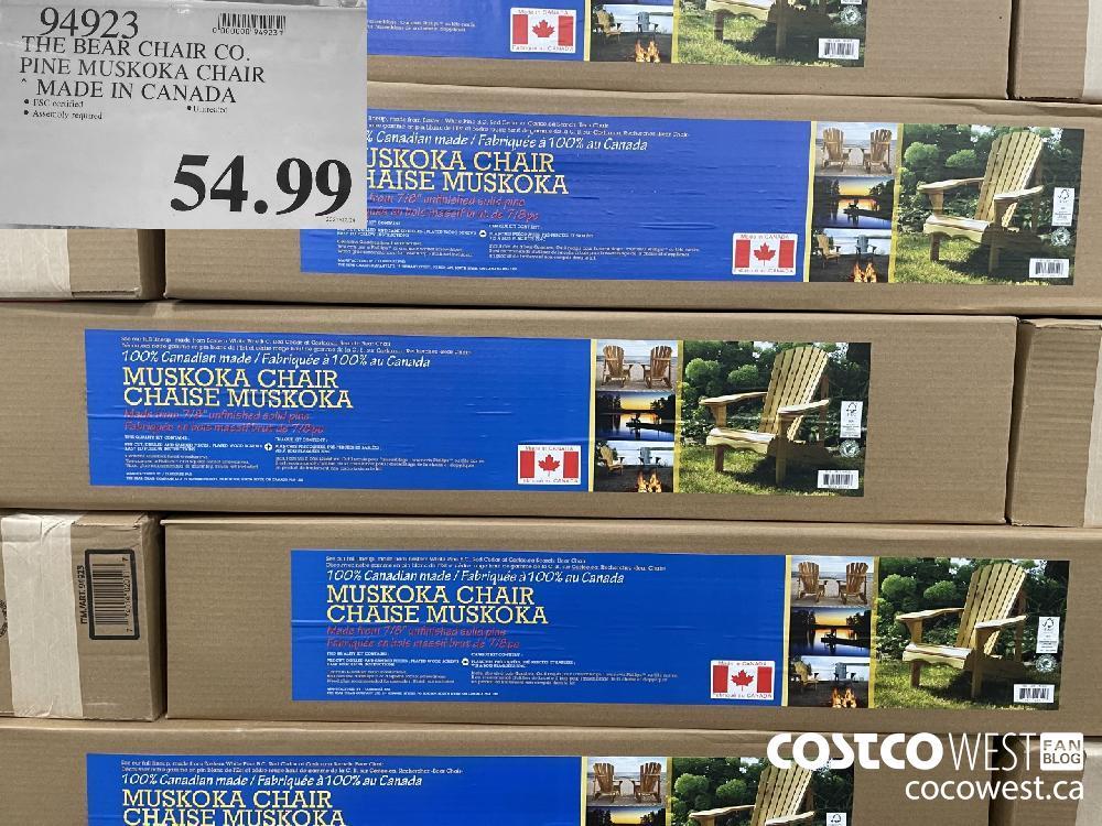 94923 THE BEAR CHAIR CO. PINE MUSKOKA CHAIR MADE IN CANADA $54.99