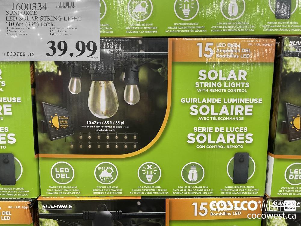 1600334 SUNFORCE LED SOLAR STRING LIGHT 10.6m (33ft) Cable $39.99
