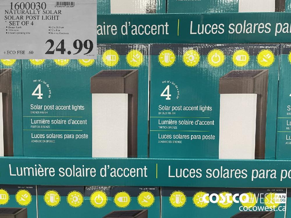 1600030 NATURALLY SOLAR SOLAR POST LIGHT SET OF 4 $24.99