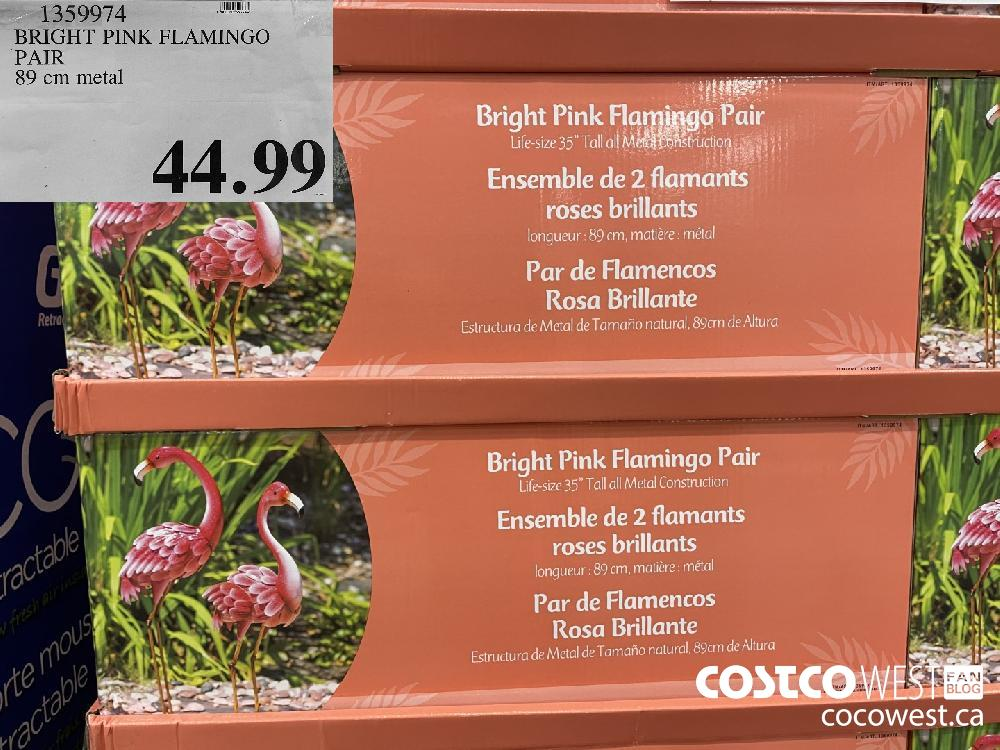 1359974 BRIGHT PINK FLAMINGO PAIR 89 cm metal $44.99
