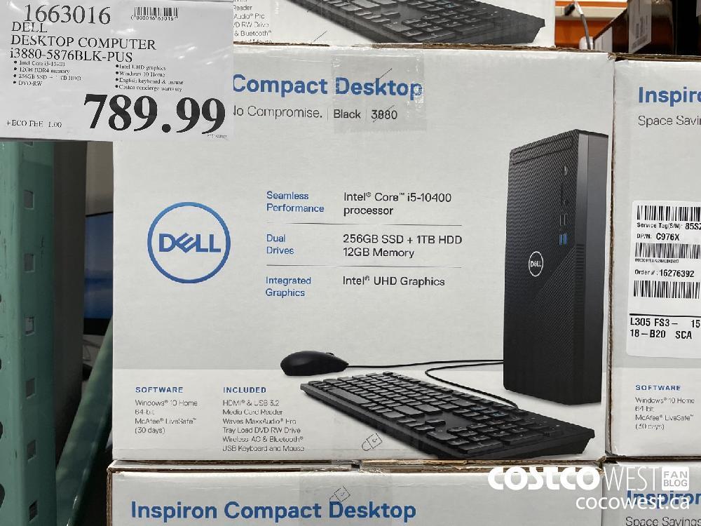 1663016 DELL DESKTOP COMPUTER 13880-5876BLK-PUS $789.99