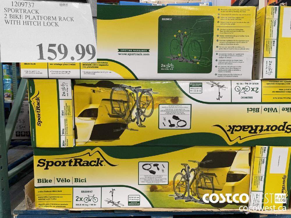 1209737 SPORTRACK 2 BIKE PLATFORM RACK WITH HITCH LOCK $159.99